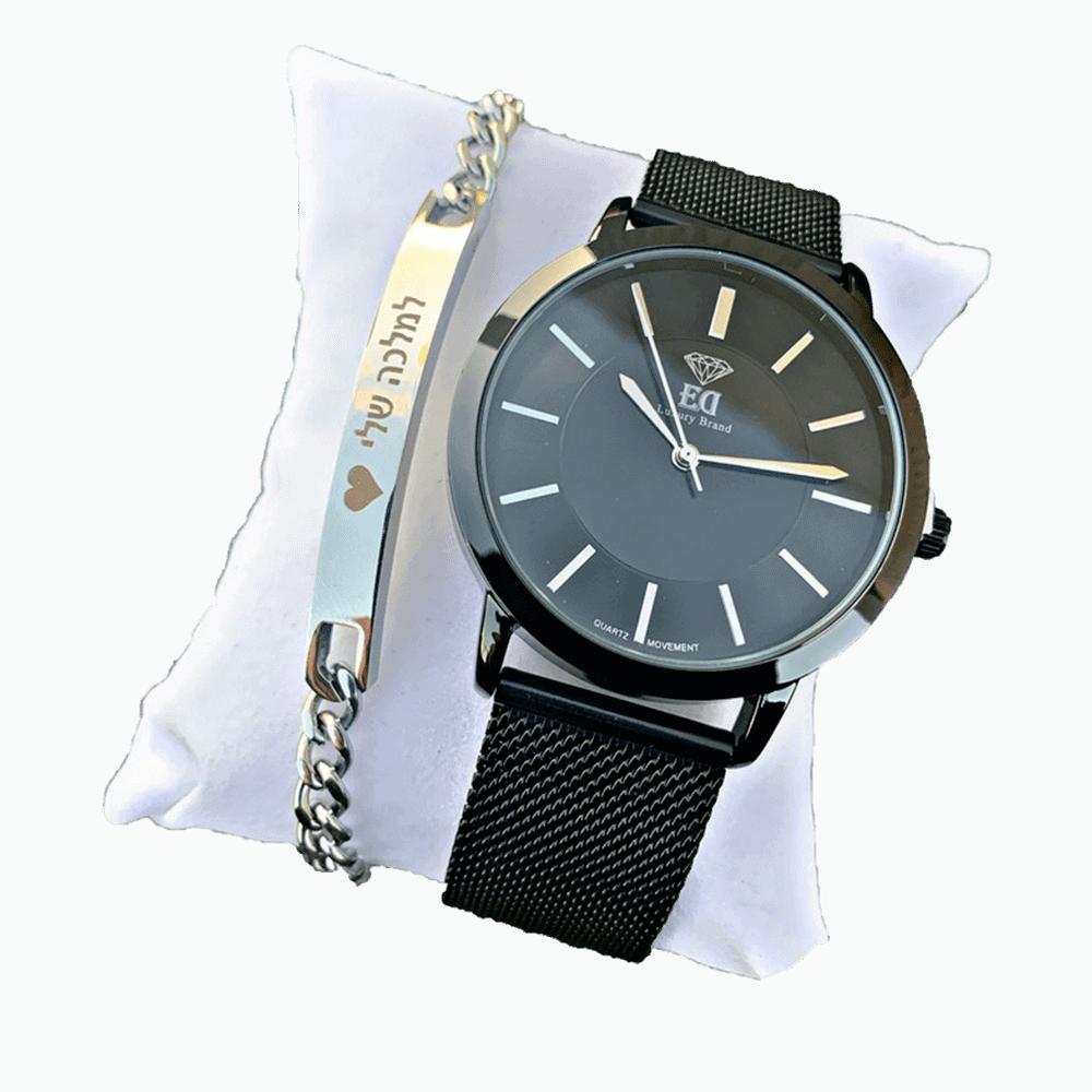 סט שעון וצמיד לאישה מתנה-1