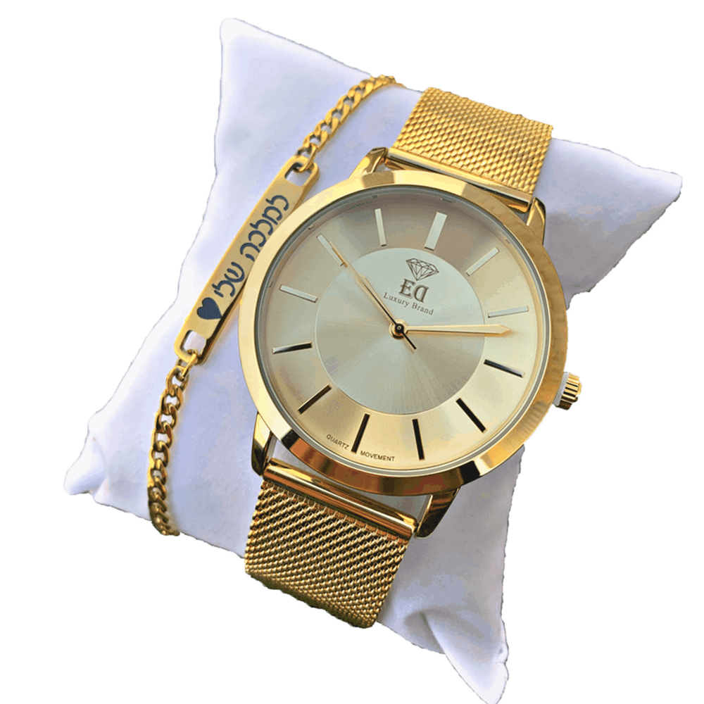 סט שעון וצמיד לאישה מתנה-5
