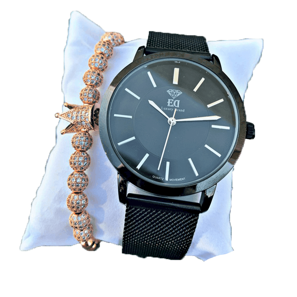סט שעון וצמיד לגבר מתנה-1