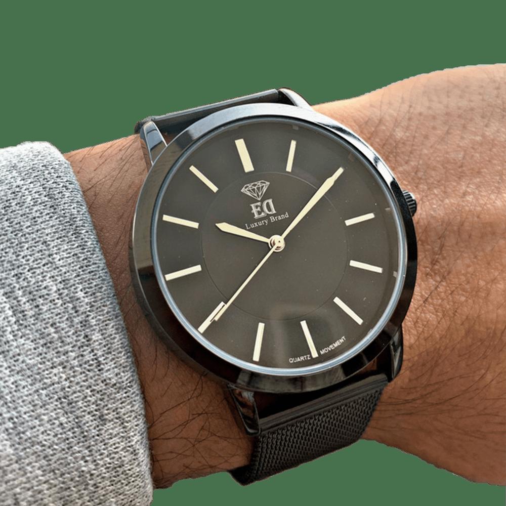שעון יד לגבר שחור ביתא ED