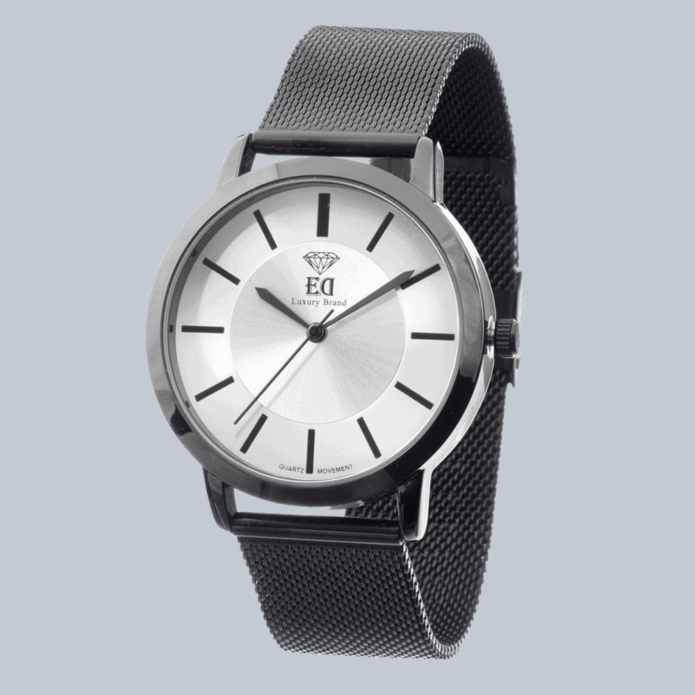 שעון שחור לגבר שעון שחור לאישה-1