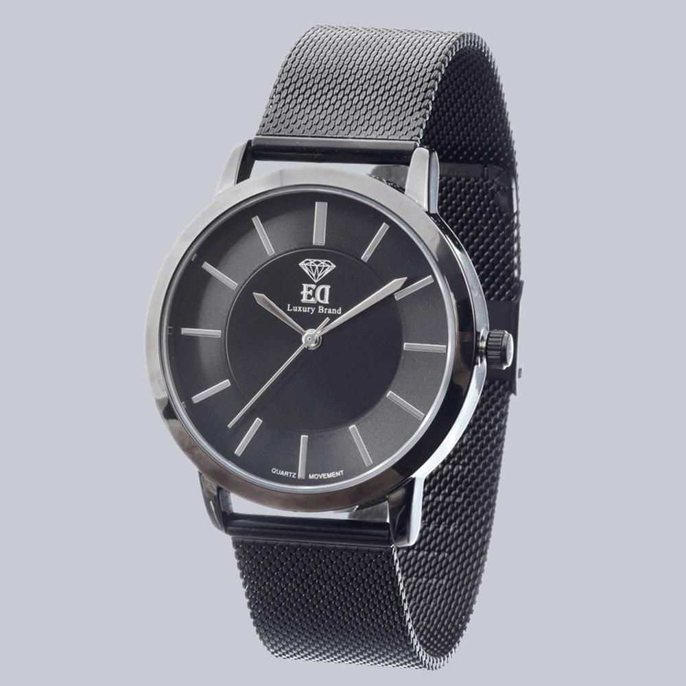 שעון שחור לגבר שעון שחור לאישה-2