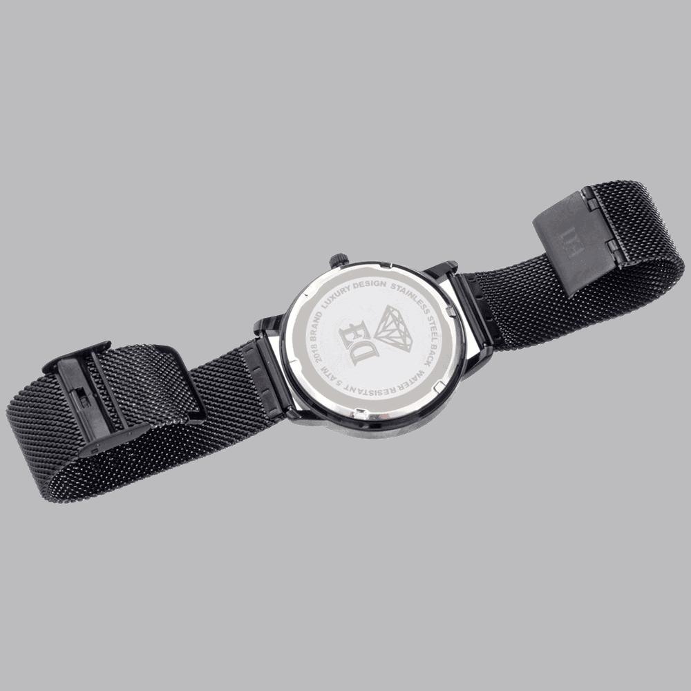 שעון שחור לגבר-5